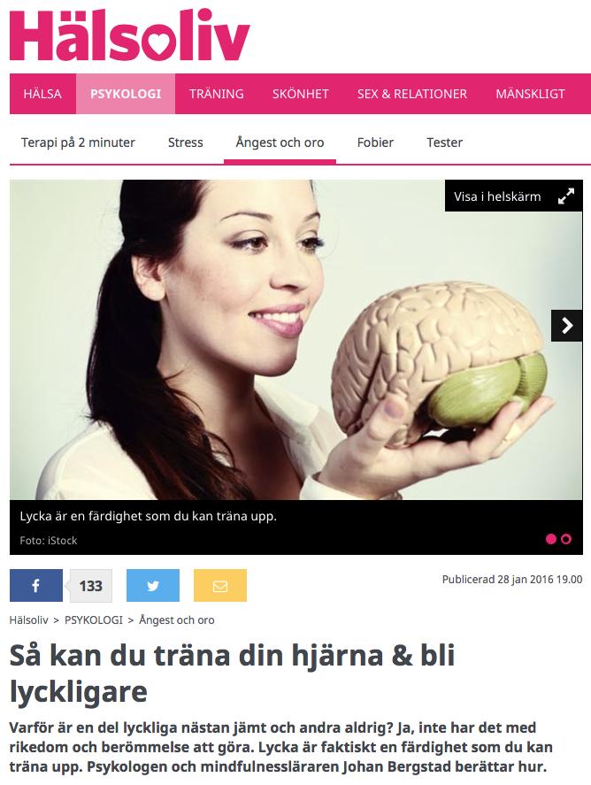 Träna hjärnan Hälsoliv jan 2016 foto